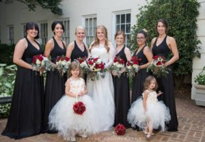 Beautiful best friends with sweet flower girls!